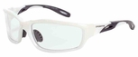 Crossfire Infinity Safety Glasses with Pearl White Frame and Clear Lens