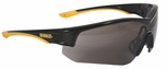 DeWalt Adapter Safety Glasses with Black/Yellow Frame and Smoke Lens