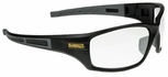 DeWalt Auger Safety Glasses with Black/Gray Frame and Clear Lens
