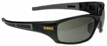 DeWalt Auger Safety Glasses with Black/Gray Frame and Smoke Lens