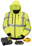 DeWalt Class 3 Hi-Vis 3-in-1 Heated Jacket Kit with Adapter, Battery and Charger