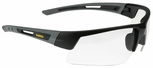 DeWalt Crosscut Safety Glasses with Black/Gray Frame and Clear Lens