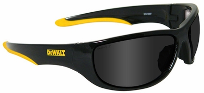 DeWalt Dominator Safety Glasses with Black Frame and Smoke Lens