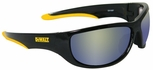 DeWalt Dominator Safety Glasses with Black Frame and Yellow Mirror Lens