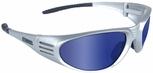 DeWalt Ventilator Safety Glasses with Silver Frame and Blue Mirror Lens