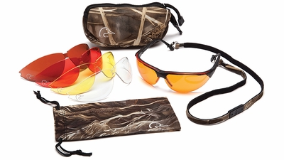 Ducks Unlimited Camo Safety Glasses Kit with Five Lenses and Protective Case