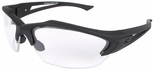 Edge Acid Gambit Tactical Safety Glasses with Black Frame and Clear Lens