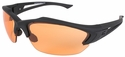 Edge Acid Gambit Tactical Safety Glasses with Black Frame and Tiger's Eye Lens