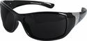 Edge Aurora Safety Glasses with Black Lace Frame and Smoke Lens