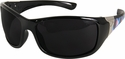 Edge Aurora Safety Glasses with Black Plaid Frame and Smoke Lens