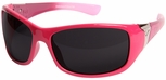 Edge Aurora Safety Glasses with Pink Lace Frame and Smoke Lens