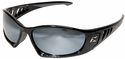 Edge Baretti Safety Glasses with Black Frame and Silver Mirror Lenses
