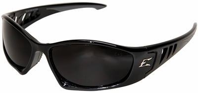 Edge Baretti Safety Glasses with Black Frame and Smoke Lenses