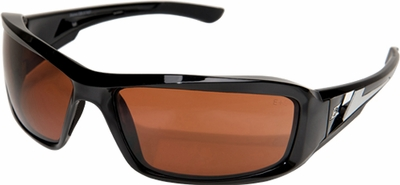 Edge Brazeau Ballistic Safety Glasses with Black Frame and Polarized Copper Lens