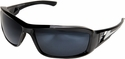 Edge Brazeau Ballistic Safety Glasses with Black Frame and Polarized G15 Silver Mirror Lens