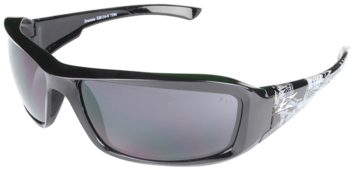 Edge Brazeau Designer Series with Black/Gray Skull Frame and Smoke Lens