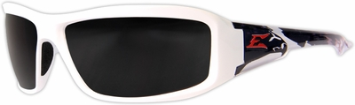 Edge Brazeau Designer Series with White Patriot1 Frame and Smoke Lens