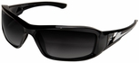Edge Brazeau Polarized Safety Glasses with Black Frame and Gray Gradient Lens
