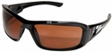 Edge Brazeau Safety Glasses with Black Frame and Copper Lens