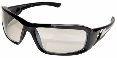 Edge Brazeau Safety Glasses with Black Frame and Indoor-Outdoor Lens