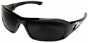 Edge Brazeau Safety Glasses with Black Frame and Smoke Lens