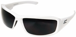 Edge Brazeau Safety Glasses with White Frame and Polarized Smoke Lens