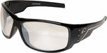 Edge Caraz Ballistic Safety Glasses with Gloss Black Frame and Anti-Reflective Lens