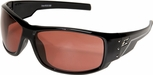 Edge Caraz Ballistic Safety Glasses with Gloss Black Frame and Copper Lens