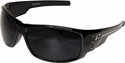 Edge Caraz Ballistic Safety Glasses with Gloss Black Frame and Smoke Lens