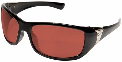 Edge Civetta Women's Ballistic Safety Glasses with Black Frame and Copper Lens