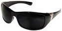Edge Civetta Women's Ballistic Safety Glasses with Black Frame and Polarized Smoke Lens
