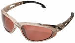 Edge Dakura Polarized Safety Glasses with Camo Frame and Copper Driving Lens