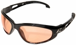 Edge Dakura Safety Glasses with Black Frame and Amber Lens