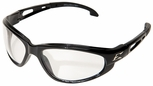 Edge Dakura Safety Glasses with Black Frame and Clear Anti-Fog Lens
