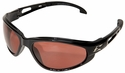 Edge Dakura Safety Glasses with Black Frame and Copper Lens