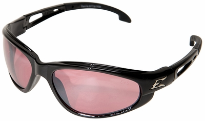 Edge Dakura Safety Glasses with Black Frame and Rose Mirror Lens