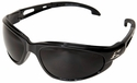Edge Dakura Safety Glasses with Black Frame and Smoke Anti-Fog Lens
