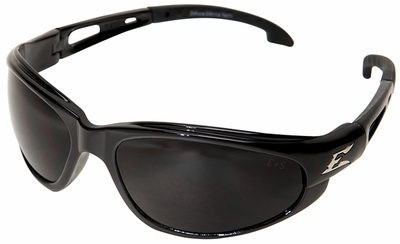Edge Dakura Safety Glasses with Black Frame and Smoke Lens