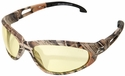 Edge Dakura Safety Glasses with Camo Frame and Yellow Lens