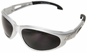 Edge Dakura Safety Glasses with Silver Frame and Smoke Lens