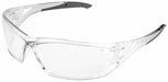 Edge Delano Safety Glasses with Clear/Black Frame and Clear Lens