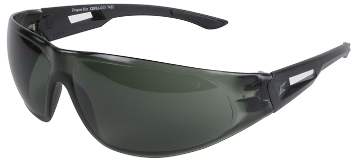 Edge Dragon Fire Tactical Safety Glasses with G-15 Lens