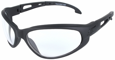 Edge Falcon Tactical Safety Glasses with Black Frame and Clear Lens