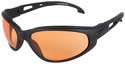 Edge Falcon Tactical Safety Glasses with Black Frame and Tiger's Eye Lens