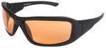 Edge Hamel Tactical Safety Glasses with Black Frame and Tiger's Eye Lens