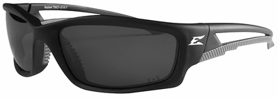 Edge Kazbek Polarized Safety Glasses with G-15 Silver Mirror Lens
