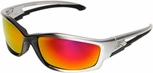 Edge Kazbek Safety Glasses with Aqua Precision Red Mirror Lens
