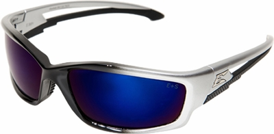 Edge Kazbek Safety Glasses with Blue Mirror Lens