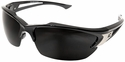 Edge Khor Polarized Safety Glasses with Matte Black Frame and Smoke Lens