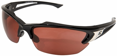 Edge Khor Safety Glasses with Black Frame and Copper Driving Lens